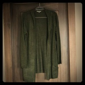 Dark Green RETRO-ology Hooded Cardigan Size L